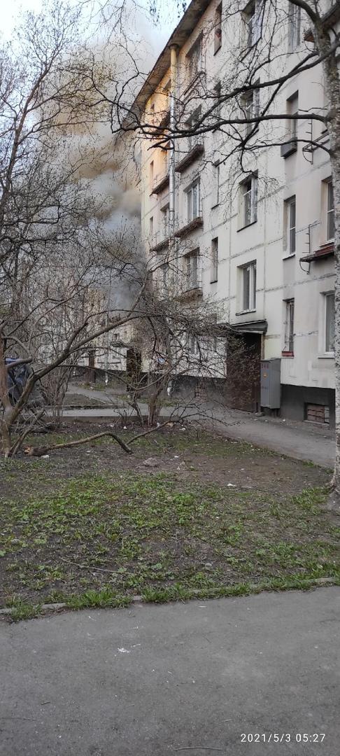 Сгорела квартира по Костюшко 28 в 5 утра