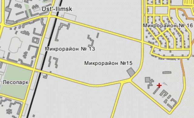 15 микрорайон Усть-Илимска на карте
