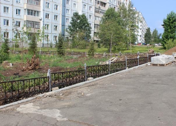 Усть-Илимск. Благоустройство сквера возле скульптуры «Семья»