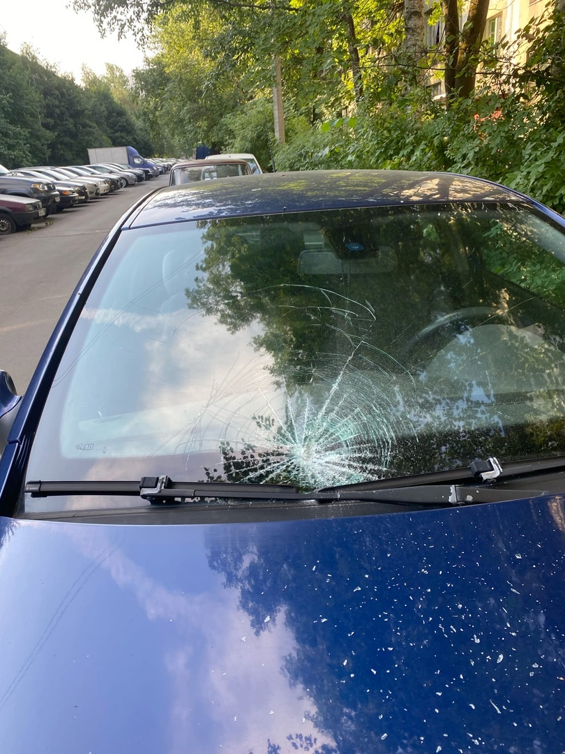 Утреннний «приятный» сюрприз! Автомобиль был припаркован около дома 11 по ул. Костюшко. Прошу отклик...
