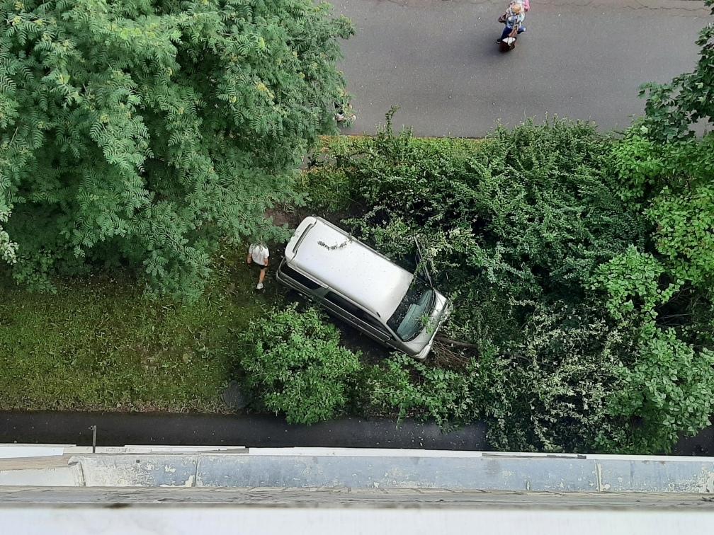 Сегодня в 7 утра подростки на серебристой Тойоте Спарки Х протаранили зеленые насождения в кармане п...