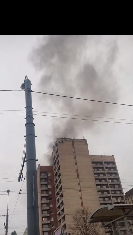 Пожар в общежитии Российского государственного гидрометеорологического университета