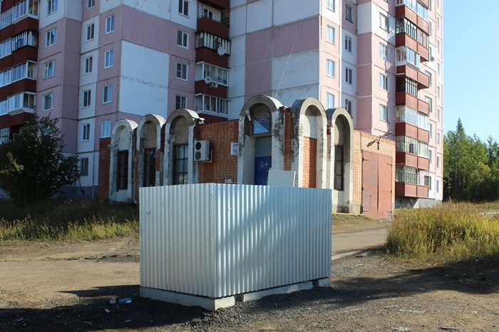 Контейнерная площадка для сбора ТКО в Усть-Илимске