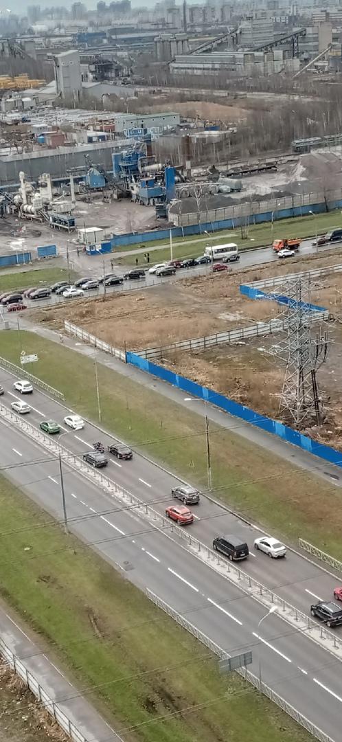 Паровозик из 6 машин на Энгельса в сторону КАДа + Nissan в соседней полосе. Объезд по встречке, проб...