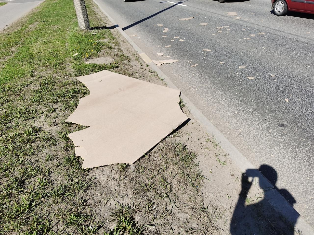 Сегодня в около 15 часов на Митрофаньевском шоссе прилетел лист ОСБ в лобовое. Если кто-нибудь проез...