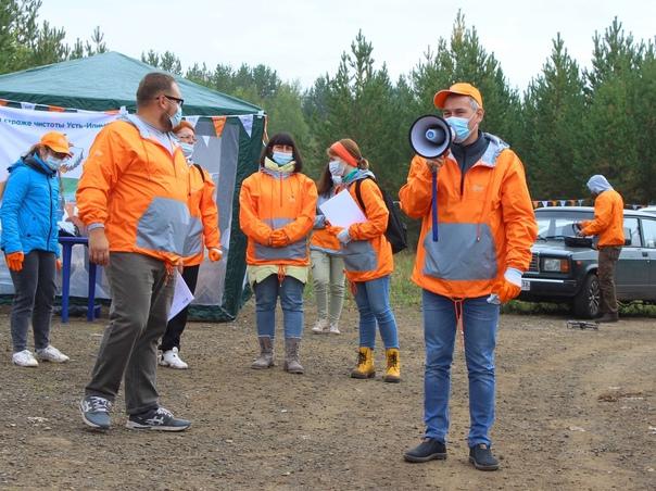 Эковолонтёры акции «360» очистили берег Усть-Илимского водохранилища от мусора