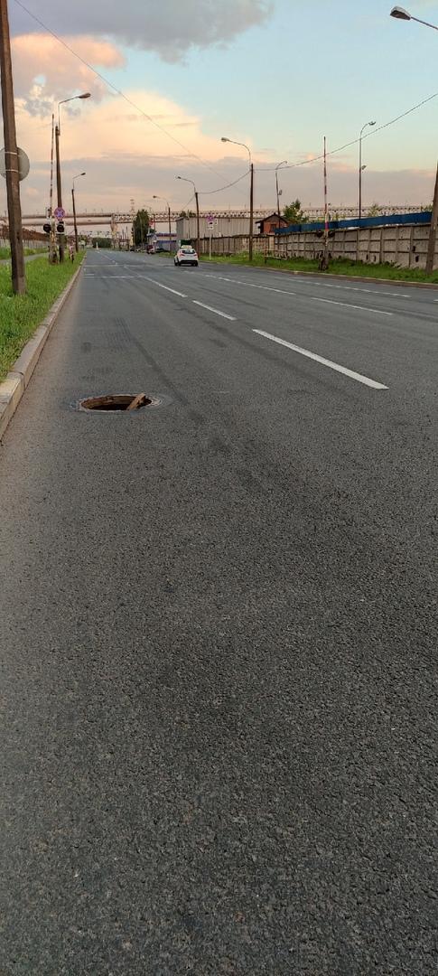 Двинская улица в сторону ЗСД вот такой вот сюрприз. Будьте осторожны.