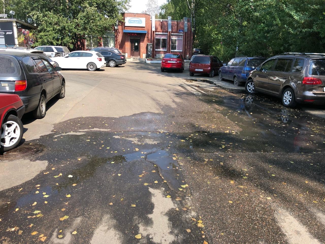 В парк Сосновка на Витковского уже второй день из люка льется канализация! Вонища жуткая, к чему это...