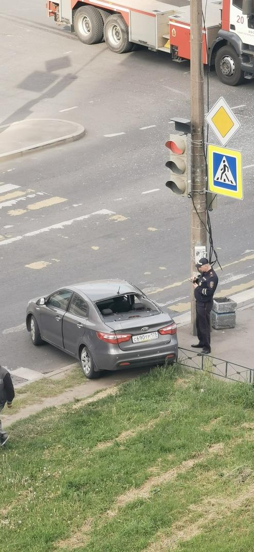 Утренняя авария на Маршала Захарова.