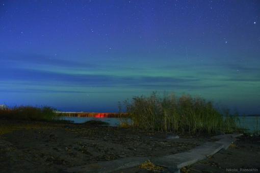 СЕВЕРНОЕ СИЯНИЕ В НОВОЙ ЛАДОГЕ 12 октября с 20 - 21 часов поймал первое осеннее северное сияние в ...