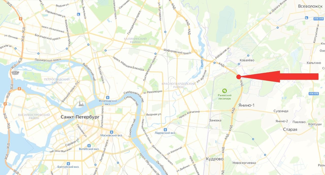 На КАД между развязками с Рябовским и Колтушским шоссе полностью перекроют движение на 42+858 км вне...