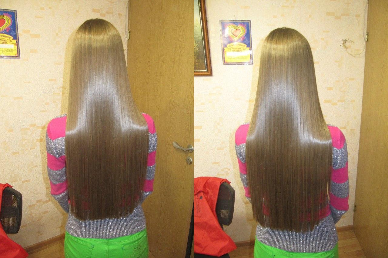 Кератиновое выпрямление волос народными средствами