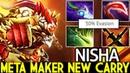 Nisha [Bounty Hunter] Meta Maker New Carry 7.20 Dota 2