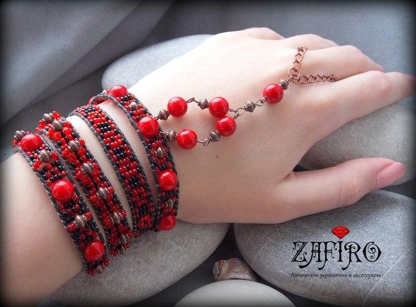 Стильные браслеты в стиле бохо.