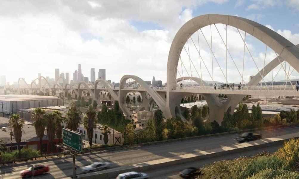 В Лос-Анджелесе ведется строительство сейсмостойкого моста