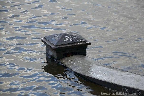 Наводнение в Таганроге: уровень воды в акватории Таганрогского залива постепенно понижается