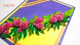 Paper Quilling Flower card for beginners Quilling Flowers DIY quilling card