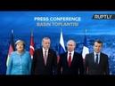 Erdogan, Putin, Macron, Merkel give statement following Syria summit