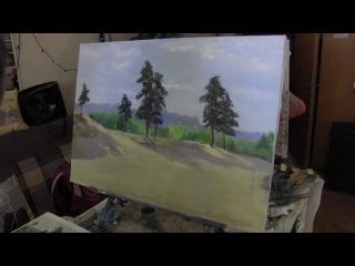 Научиться рисовать лес, деревья,курсы живописи маслом