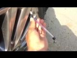 Что делать с герметиком шин если колесо спустило лишь частично? ?