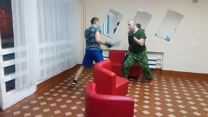 Тренировка по ножевому бою. СПАС