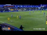 В первом четвертьфинальном матче Кубка Испании «Алавес» в гостях победил со счётом 2:0 «Алькоркон». Оба мяча были забиты в сам
