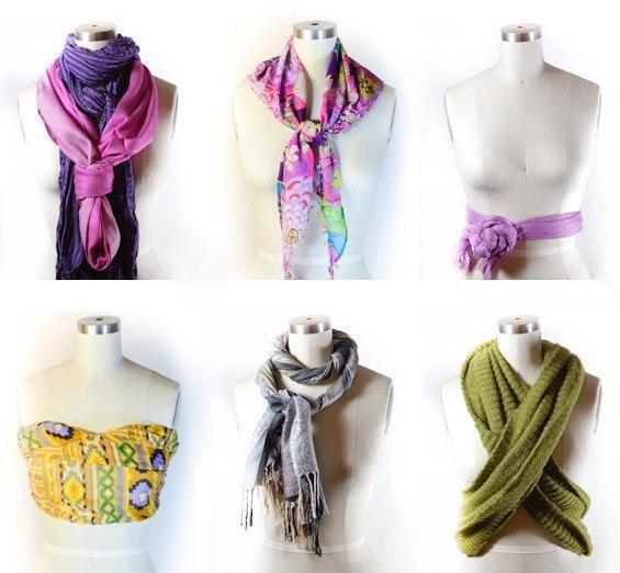 Как красиво завязать шарф (6 фото) - картинка