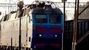 Прибытие ЧС7-305 с поездом №141/142