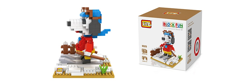 "Конструктор LOZ Diamond Block iBlock Fun ""Снупи лыжник"" 9525"