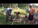 ...заготавливали дрова всем миром..