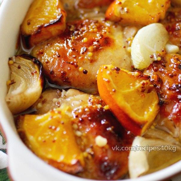 курица с апельсинами в духовке рецепт фото