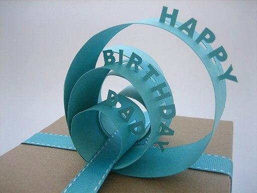 Необычные открытки с днем рождения из бумаги