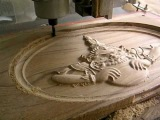 CNC cutting wood for the demon who causes eclipses3 4