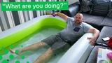 Man Sets up Paddling Pool in Living Room during Heatwave