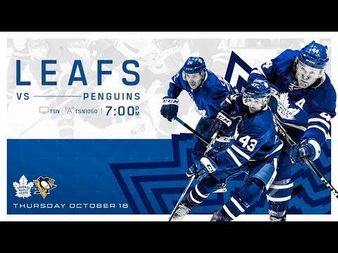 NHL 19 PS4 REGULAR SEASON 2018 2019 Pittsburgh PENGUINS VS Toronto MAPLE LEAFS 10 18 2018 NBCSN