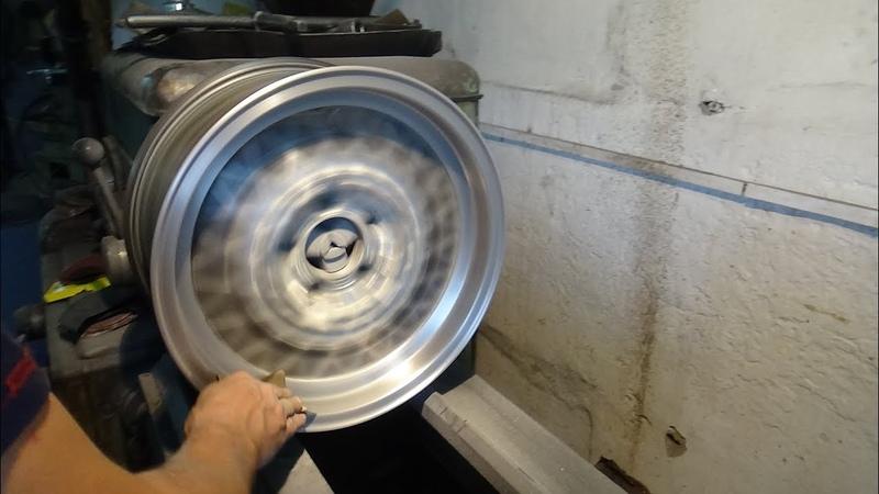 Покраска колёсных дисков на мерседес W126.
