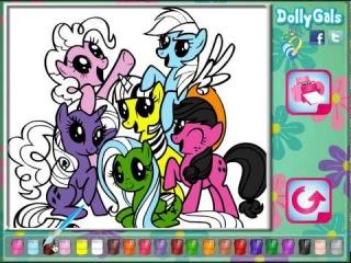 Игра Литл Пони Дружба это Чудо Раскраска (Little Pony Coloring)
