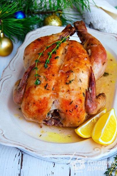 Курица в духовке с белым вином, лимоном и чесноком