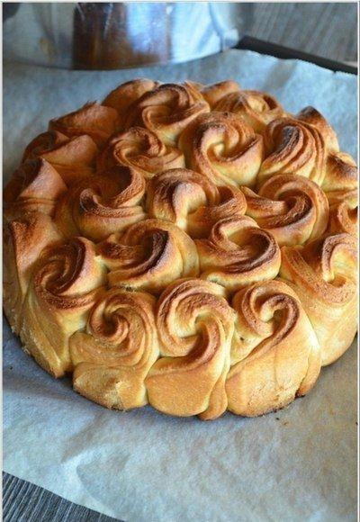 Пирог из роз