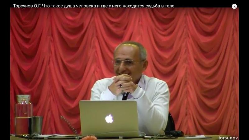 Торсунов О.Г. Что такое душа человека и где у него находится судьба в теле