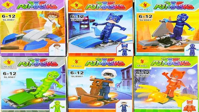 Игрушки Герои в масках 2 Новая Серия Лего человечки видео Кэтбой Алет Геко
