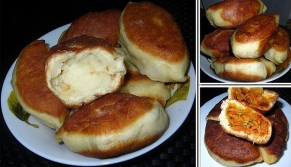 Пирожки на кефире без яиц  _wAphMrzVZA
