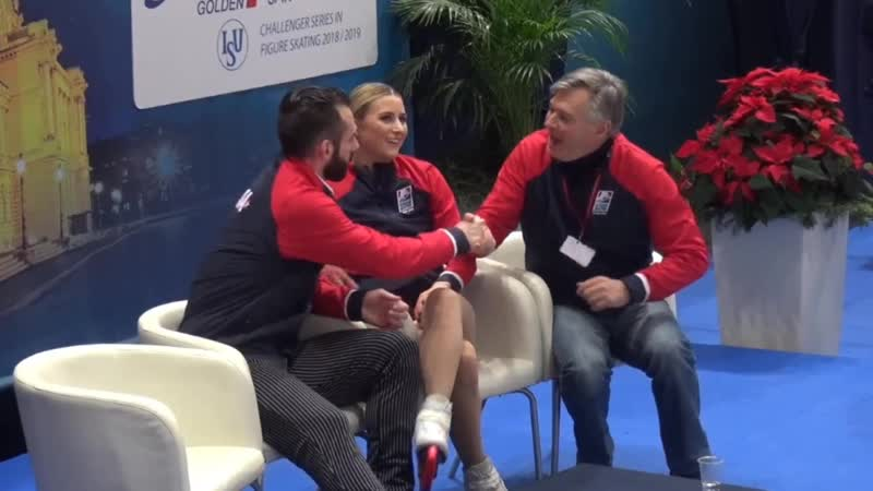 Golden Spin of Zagreb 2018. PAIRS - SP. Ashley CAIN / Timothy LEDUC