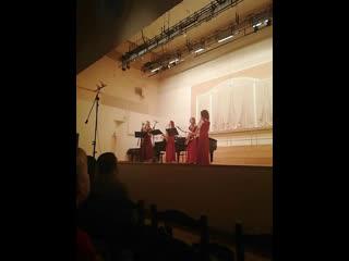 Гала-концерт Дни саксофона в Москве с Маргаритой Шапошниковой. Sirenes saxophone quartet