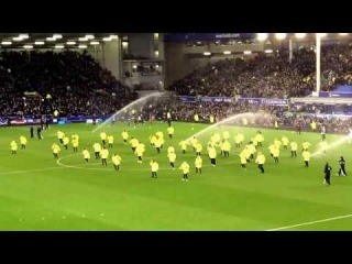 Dancing Stewards at Goodison - Dec 14, 2013
