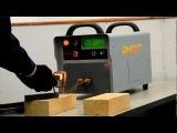 Индукционная пайка резцов, nduction heating