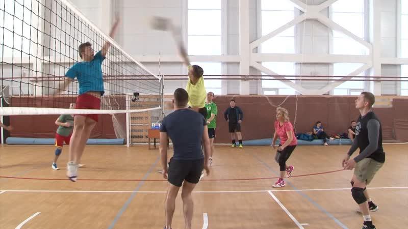 Новогодний волейбольный турнир прошел в спорткомплексе Выборг