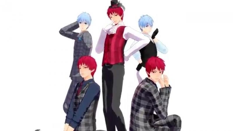 Three Akashi and two Kuroko [MMD] 5