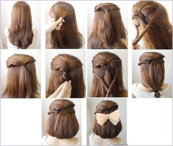 причёска+схема | Свадебные