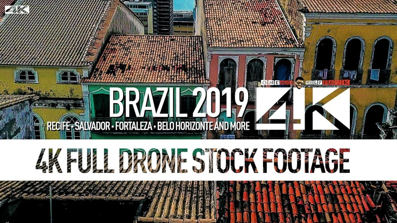 【4K】Drone RAW Footage | BRAZIL 2019 ..:: Recife :: Salvador :: Fortaleza :: Belo H. | UltraHD Video
